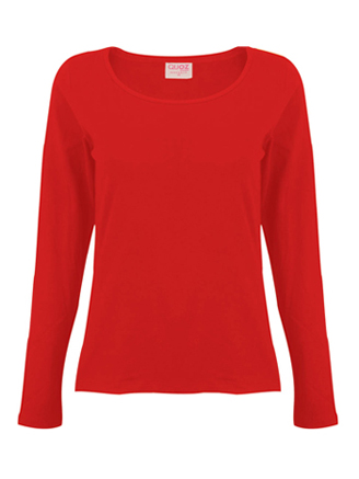 long sleeve red shirt womens artee shirt
