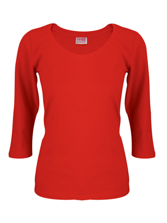 1f3408aa Womens T shirt 3/4 Sleeve Figure Red - Angelgear Cycling and ...